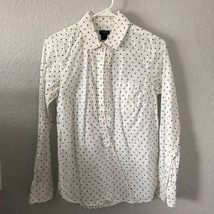 J Crew polka dot cotton blouse